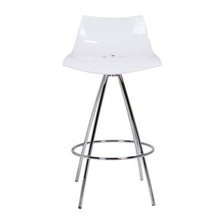 Mid-Century Modern Icicle White Counter Stool