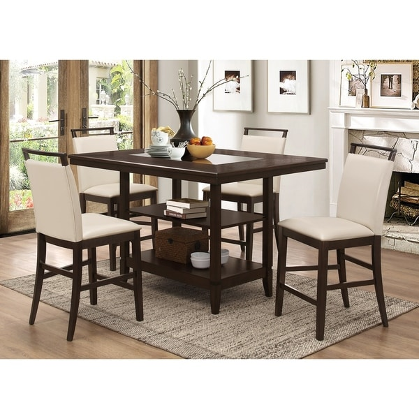 Best Master Furniture WA1811 5 Pcs Counter Height Set