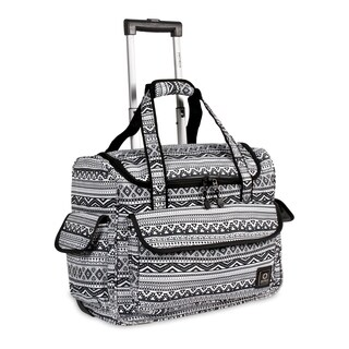 J World New York DONNA Travel Rolling Tote TRIBAL
