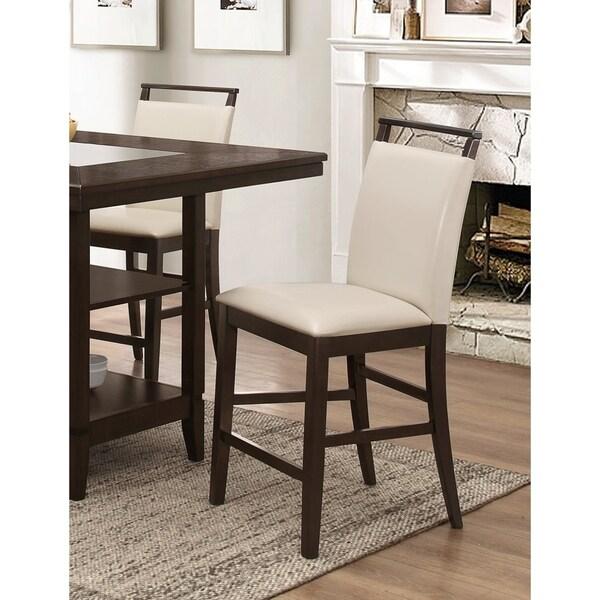 Shop Best Master Furniture Weathered Oak Sleigh: Shop Best Master Furniture Cream Counter Height Chair (Set