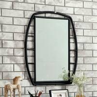 Furniture of America Ryan Industrial Metal Framed Mirror - Black