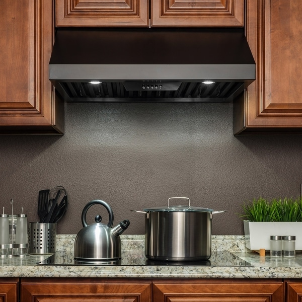 "Picture Of Under Cooktop Kitchen Drawers: Shop AKDY RH0346 36"" Under Cabinet Black Finish Stainless"