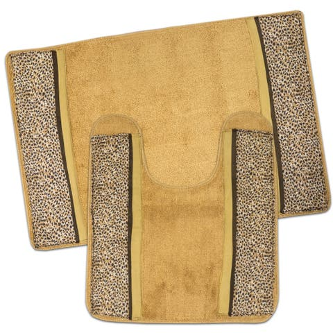 Wild Life Bath and Contour Rug Set