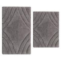 Diamond 2 pc bath rug set