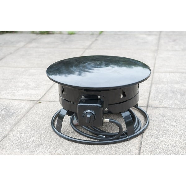 """19"""" Portable LP Fire Pit With Flame Design"""