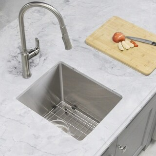 """14"""" Single Bowl, 18G, Stainless Steel Kitchen Sink S-310- Ivory"""