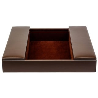 Brown Leatherette Conference Room Organizer