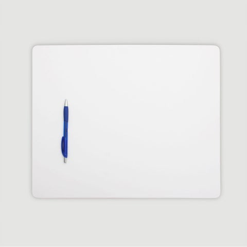 """White Leatherette 17"""" x 14"""" Conference Table Pad"""