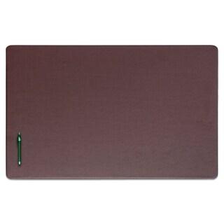 """Brown Leatherette 38"""" x 24"""" Desk Mat"""
