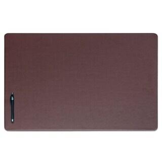 """Brown Leatherette 30"""" x 19"""" Desk Mat"""