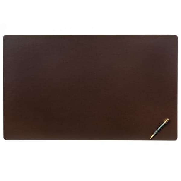 """Brown Leatherette 34"""" x 20"""" Desk Mat"""