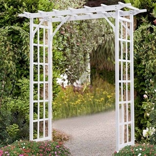 Wood Arbor White Outdoor Pergola