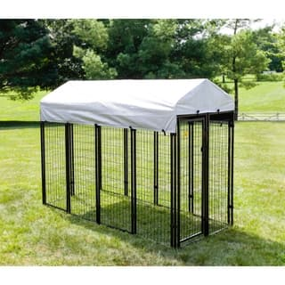 KennelMaster 8 ft. x 4 ft. x 6 ft. Welded Wire Kennel Kit