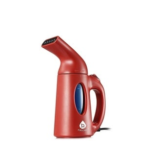 Pursonic Portable 130ml Handheld Fabric Fast Heat-up Powerful Garment Clothes Steamer, Red