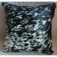 Pergamino Black and salt and pepper Cowhide Pillows Case