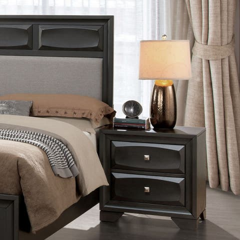 Strick & Bolton Bernd 2-drawer Grey Nightstand