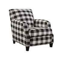 Holland Black and White Plaid Chair