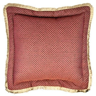 Sherry Kline Tangiers Flanged 30-inch European Pillow - Red