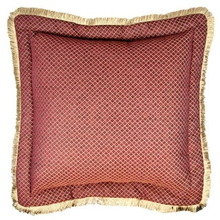 Sherry Kline Tangiers Flanged 30-inch European Pillow Cover- Red