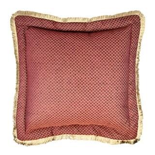 Sherry Kline Tangiers Flanged 26-inch European Sham - Red