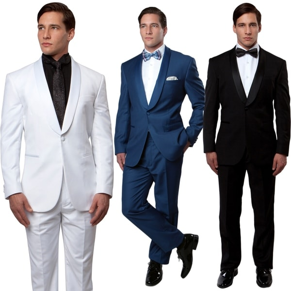Slim Fit Tuxedo 2PC Shawl Collar Tuxedo for Men-All Occasion Tuxedos