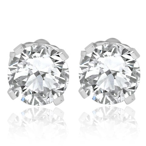 Bliss 14k White Gold 3/4 ct TDW Diamond Studs