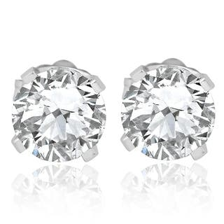 Bliss 14k White Gold 3 4 Ct Tdw Diamond Studs