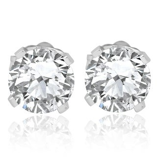 Bliss 14k White Gold 3/4 ct TDW Diamond Studs