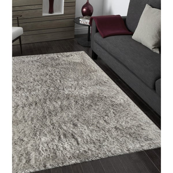 Shop Plush Shag Cozy Light Gray Rug 8 X11 8 X 11