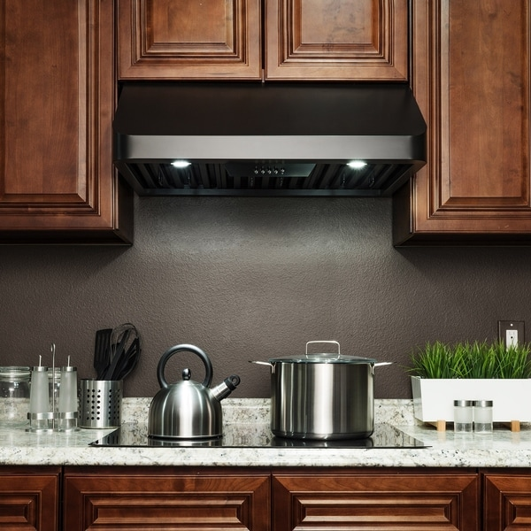 "Picture Of Under Cooktop Kitchen Drawers: Shop AKDY RH0349 30"" Under Cabinet Black Stainless Steel"