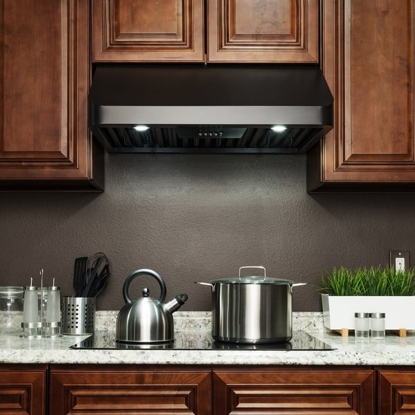 Akdy Rh0349 30 Under Cabinet Black Painted Stainless