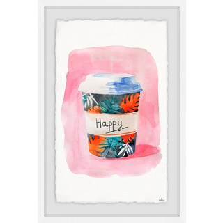 'Nothing but Happy' Framed Painting Print (More options available)