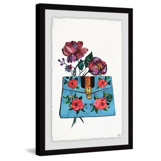 'Blue Purse' Framed Painting Print