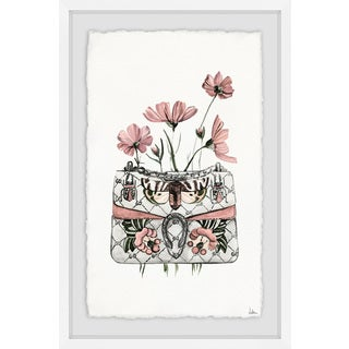 'Purse with Pink Flowers' Framed Painting Print (More options available)