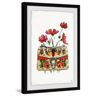 'Purse with Red Flowers' Framed Painting Print (More options available)