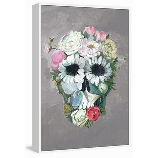 Marmont Hill - Handmade Enjoy Flower Floater Framed Print on Canvas