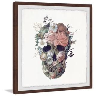 Marmont Hill - Handmade Floral Skull II Framed Print