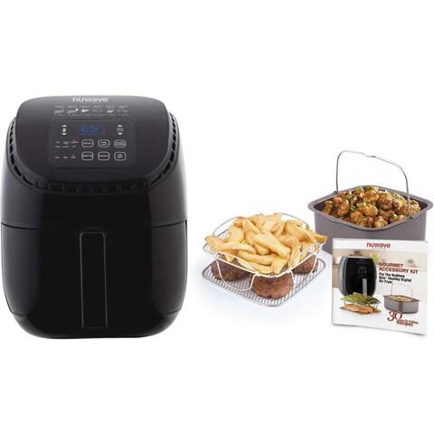 Nuwave 3 qt. Brio Air Fryer (Black) with Gourmet Accessory Kit