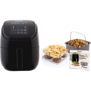 Nuwave 3 qt. Brio Air Fryer (Black) with Gourmet Accessory Kit