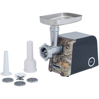 Magic Chef Meat Grinder with Sausage Maker and Authentic Realtree Xtra Camouflage Pattern