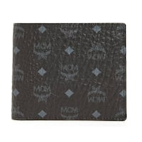 MCM Men's Claus Small Black Wallet