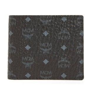 MCM Men's Claus Small Black Wallet
