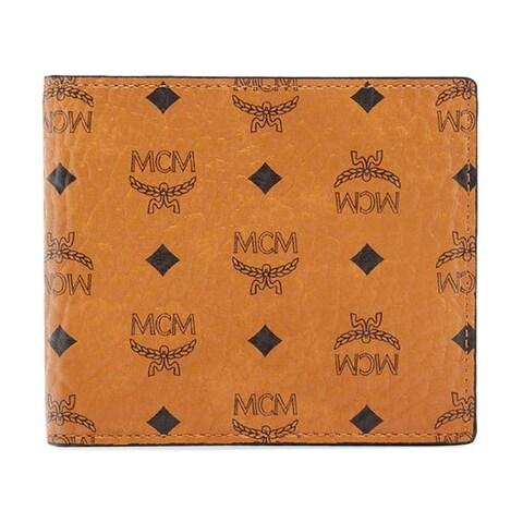 MCM Visetos Original Small Cognac Wallet