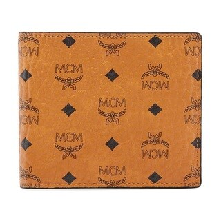 MCM Visetos Original Small Cognac Wallet