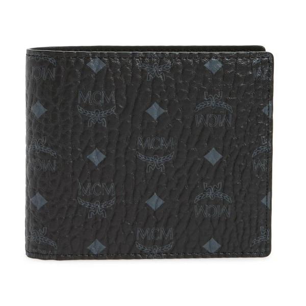 MCM Visetos Original Small Black Wallet