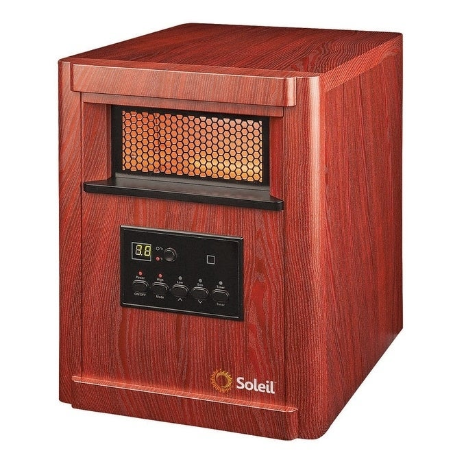 SOLEIL Electric Infrared Heater Thermostat Brown