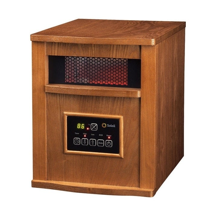 Soleil 1500 watts Electric Infrared Radiant Heater, Brown