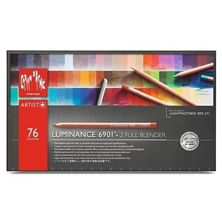 Caran D'Ache Luminance Colored Pencils 76 Color Assortment w/ 2 Color Blenders