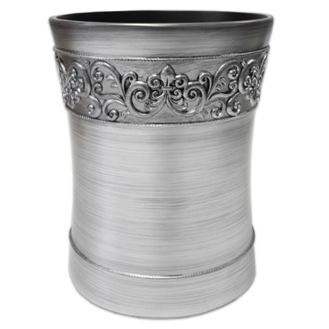 Murano Waste Basket - Silver