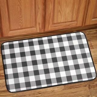"""Buffalo Check Printed Anti-Fatigue Kitchen Mat (18""""x30"""") Black/White - 18""""x30"""""""